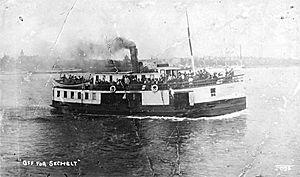 Sechelt (steamboat) - Image: Sechelt (steamboat) (ex Hattie Hansen) ca 1910