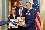 Secretary Kerry Poses for a Photo With Ambassador Olson and His Daughter (30510435793).jpg