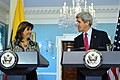 Secretary Kerry and Colombian Foreign Minister Holguin Address Reporters (12840956055).jpg