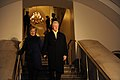 Secretary of State-nominee Hillary Rodham Clinton and husband, former President Bill Clinton descend the stairs at the U.S. Capitol for the start of the 56th Presidential Inauguration in Washington, D.C 090120-F-MN103-371.jpg