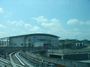 Light Rail Transit (Singapore) - LRT trains are parked at the top level of Sengkang Depot.