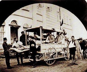 Serbian–Ottoman War (1876–1878) - Serbian ambulance in 1876.