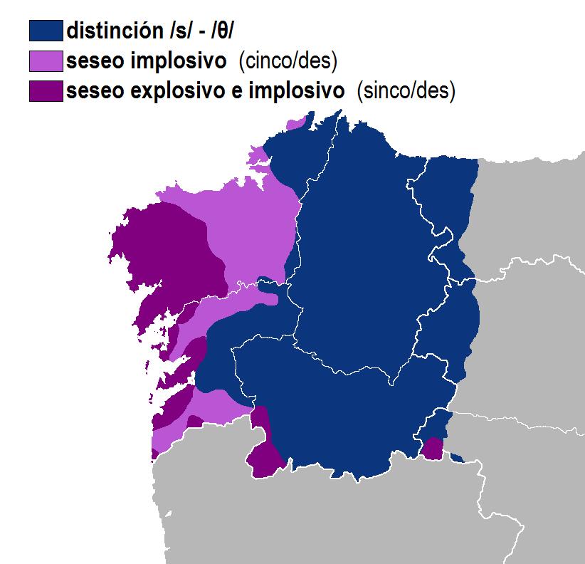 Seseo idioma gallego