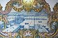 Setúbal - Representação de barcos pesqueiros no porto de Setúbal - Parede de azulejos no Mercado do Livramento.jpg