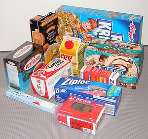 Carton - Examples of several types of cartons for different products