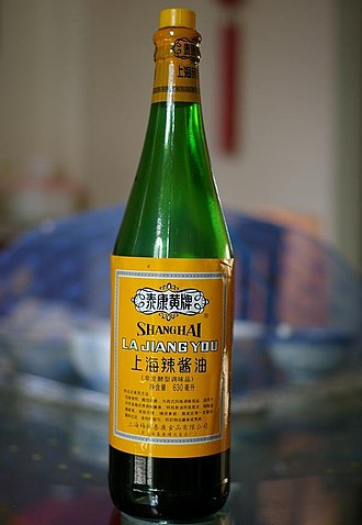 "Worcestershire sauce - A bottle of ""spicy soy sauce"" from Shanghai"