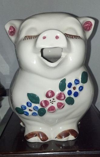 Shawnee Pottery - Shawnee Pottery Smiley Pig Pitcher