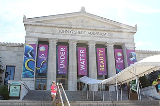 Shedd Aquarium - Entrance in July 2018