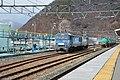 Shinano Railway Sakaki Station EH200 locomotive (40583409713).jpg