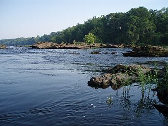 Coosa River - Pipeline Falls section of Coosa River, near Wetumpka, Alabama