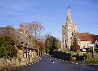 Shorwell village in the United Kingdom