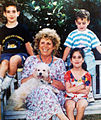 Shulamit Aloni with 3 of her grandchildren.jpg