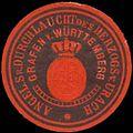 Siegelmarke Angel. Sr. Durchlaucht des Herzogs von Urach Grafen von Württemberg W0350296.jpg