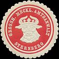 Siegelmarke Grossh. Meckl. Amtsanwalt Sternberg W0342495.jpg