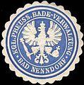 Siegelmarke Königlich - Preussische Bade - Verwaltung Bad Nenndorf W0210151.jpg