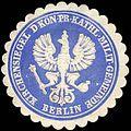 Siegelmarke Kirchensiegel der Königlich Preussischen katholischen Militär Gemeinde Berlin W0238192.jpg