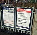 Sign of the times - Alcohol Exclusion Zone - geograph.org.uk - 742073.jpg
