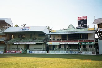 Pickwick Cricket Club - The former Pickwick Pavilion at Kensington Oval. This was home to Pickwick Cricket Club until 2005.