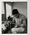 Sitka National Monument 1962-65, page 92 (Original Caption- Peter Seegama working on ivory) (32810632281).jpg