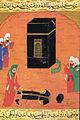 Siyer-i Nebi - Muhammad und Imam Ali werfen die Götzen aus der Kaaba.jpg