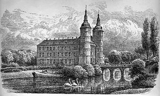 Vallø Castle - Vallø Castle in 1865