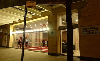 Skirball Center for the Performing Arts - Entrance, 2016