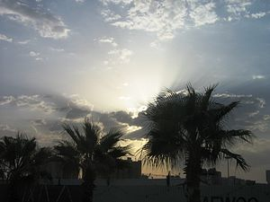 Sky in Tripoli. 2008 year.