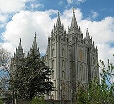 Templo de Salt Lake City, Utah, EUA, da Igreja de Jesus Cristo dos Santos dos Últimos Dias.