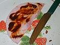 Slice of ham with sauce.jpg