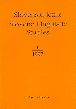 Marko Snoj - The first issue of Slovenski jezik/Slovene Linguistic Studies, 1997