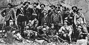 Jan Smuts - Jan Smuts and Boer guerrillas during the Second Boer War, ca. 1901