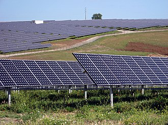 Photovoltaic power station - Serpa Solar Park built in Portugal in 2006