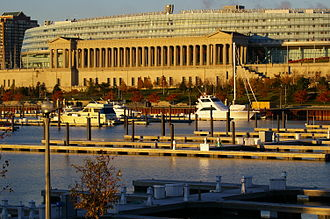 Near South Side, Chicago - Soldier Field and Burnham Park Harbor