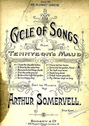 Arthur Somervell - Image: Somervell's Maud Titlepage
