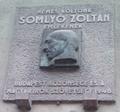 Somlyó Zoltán emléktáblája, Budapest, XI., Kruspér utca 7..png