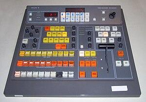 Vision mixer - A Sony BVS-3200CP vision mixer.