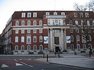 Borough Road - Main entrance to London South Bank University at 103 Borough Road.