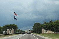 Interstate 95 in South Carolina - Wikipedia on interstate 65 map of united states, thruway exit maps, interstate highway map of all, interstate 4 florida map, interstate 81 map, interstate highways in alabama,