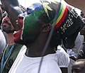 South Sudanese man cheers on independence day (5926210774).jpg