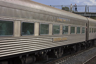 New South Wales stainless steel carriage stock - Preserved NAM2375 at Wagga Wagga in April 2012