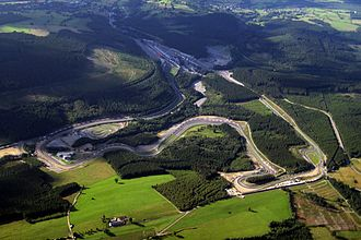 Circuit de Spa-Francorchamps - The modern circuit as seen from the air