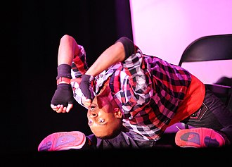 Hip-hop dance - Hip-hop dancer Joseph Coine performing in 2011 in Wallace Theater at Fort Belvoir, Virginia.