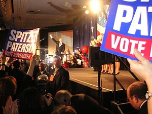 Eliot Spitzer - Spitzer celebrating on Election Night