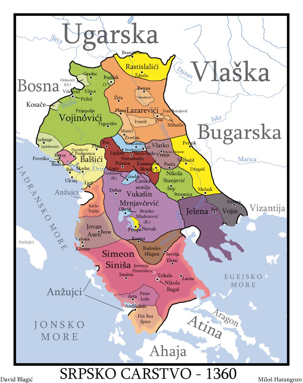 Srpsko carstvo 1360