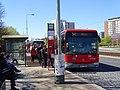 Střelničná, zastávka Ládví, autobus Crossway LE 12, Arriva Praha.jpg
