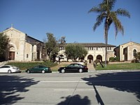 St. Alban's Episcopal Church on Hilgard Avenue, Westwood, Los Angeles, front view..JPG