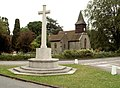 St. Andrew's church and War Memorial in Little Berkhamsted - geograph.org.uk - 1336541.jpg