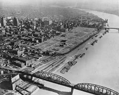 St. Louis riverfront after demolition for Gateway Arch (1942).jpg
