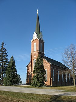 St. Patrick's Catholic Church, a township landmark