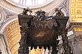 St. Peter's Basilica, St. Peter's Baldachin (Bronze Canopy over the High Altar), 1623-1634 (48466613112).jpg